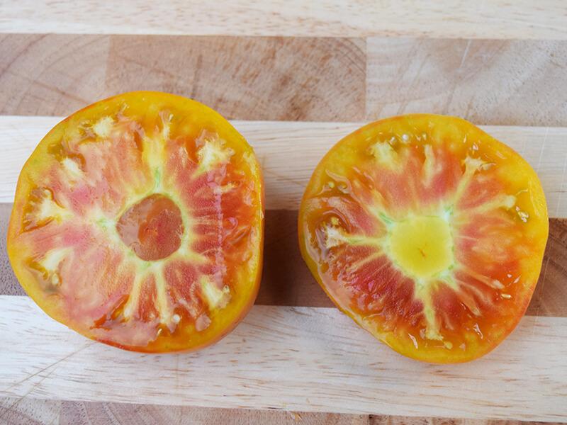pineapple tomato cut open