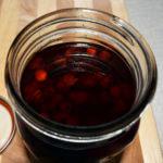 hawthorn tincture in mason jar